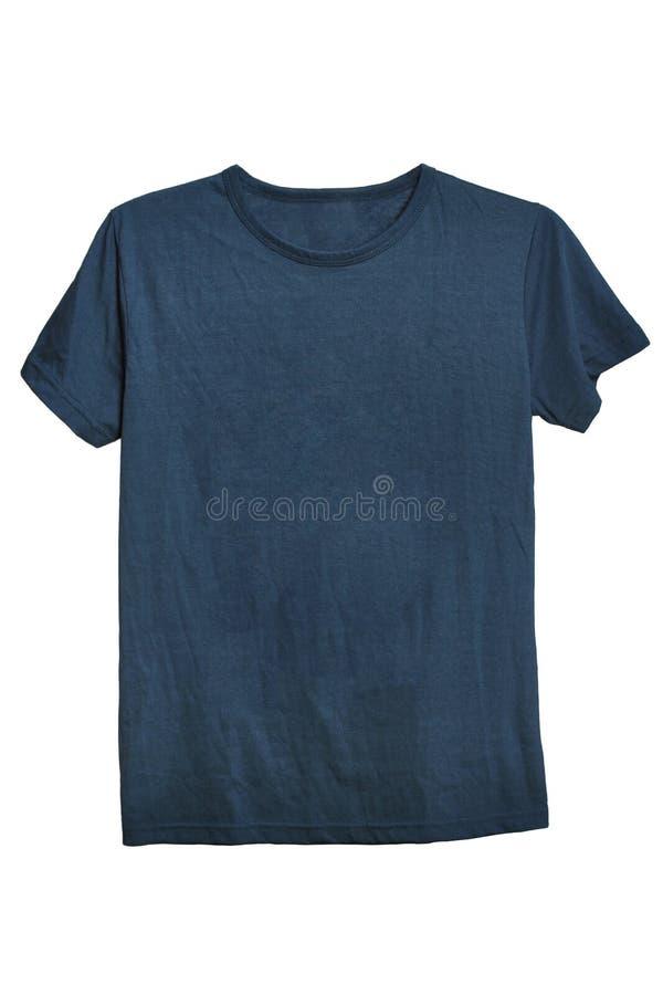 modello grigio della maglietta pronto per i vostri propri grafici fotografia stock libera da diritti