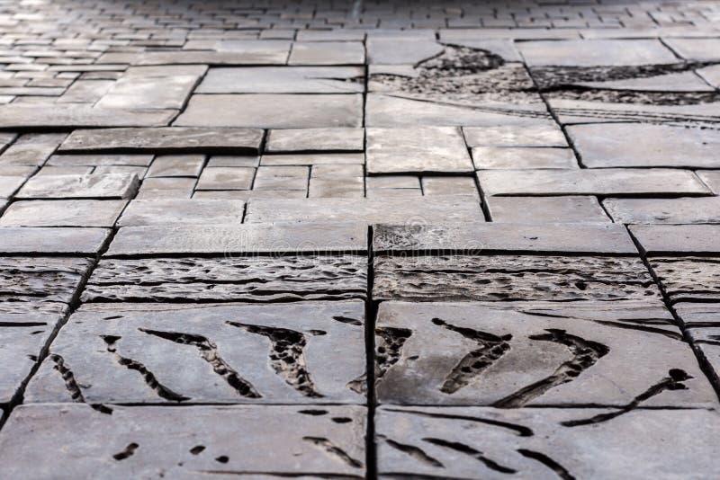 Piastrelle per pavimento di pietra del vinile di struttura for Mattonelle in vinile