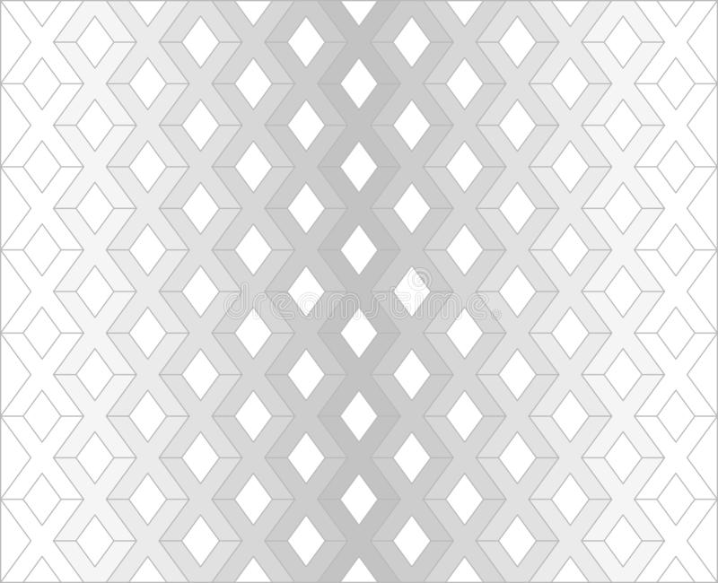 Modello grigio di X sul vettore bianco del fondo illustrazione vettoriale