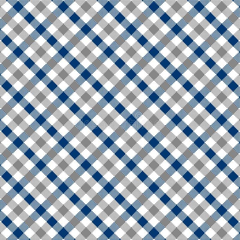 Modello grigio e blu del percalle illustrazione vettoriale