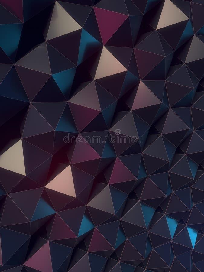 Modello grigio scuro della superficie dell'estratto rappresentazione 3d illustrazione vettoriale
