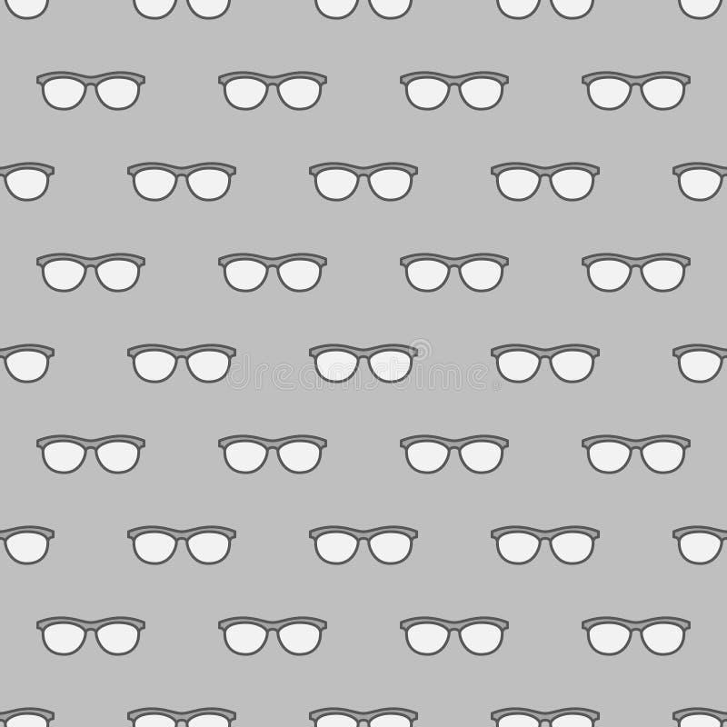 Modello grigio senza cuciture degli occhiali illustrazione vettoriale