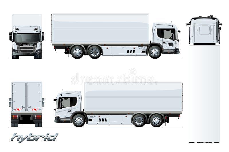 Modello ibrido del motore della generazione del camion del carico di vettore royalty illustrazione gratis