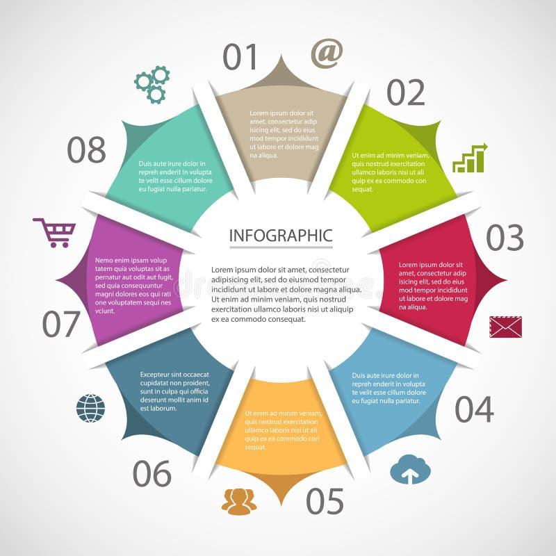 Modello infographic del cerchio illustrazione di stock