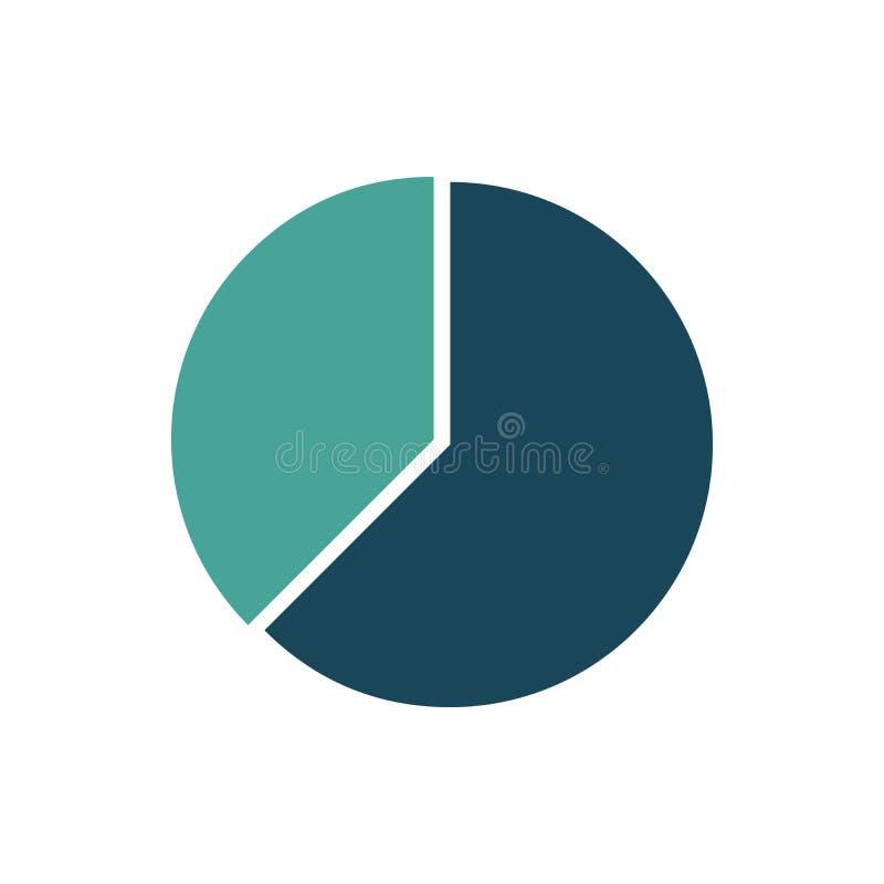 Modello infographic del cerchio Disposizione di vettore con 2 opzioni Può essere usato per il diagramma del ciclo, il grafico rot illustrazione vettoriale
