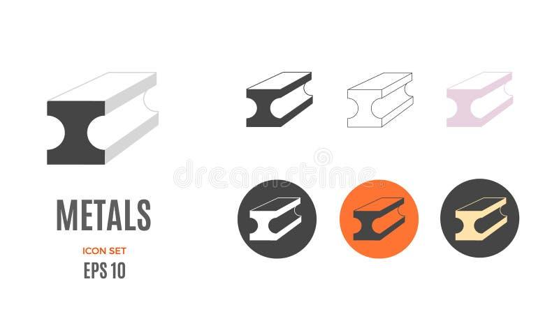 Modello infographic del metallo di vettore Icona d'acciaio di colore per la vostra illustrazione o presentazione royalty illustrazione gratis
