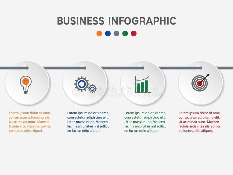 Modello infographic di affari royalty illustrazione gratis