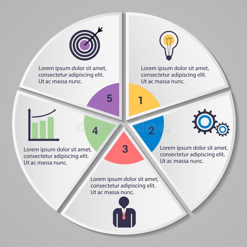 Modello infographic di affari illustrazione vettoriale