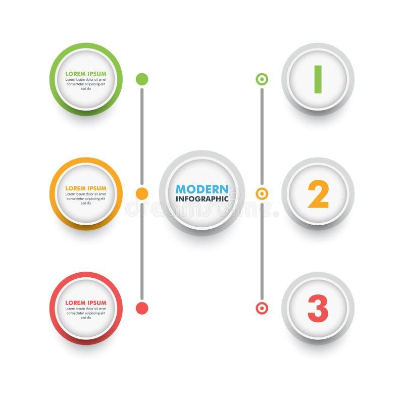 Modello infographic di affari Cronologia moderna Desig di Infographics royalty illustrazione gratis