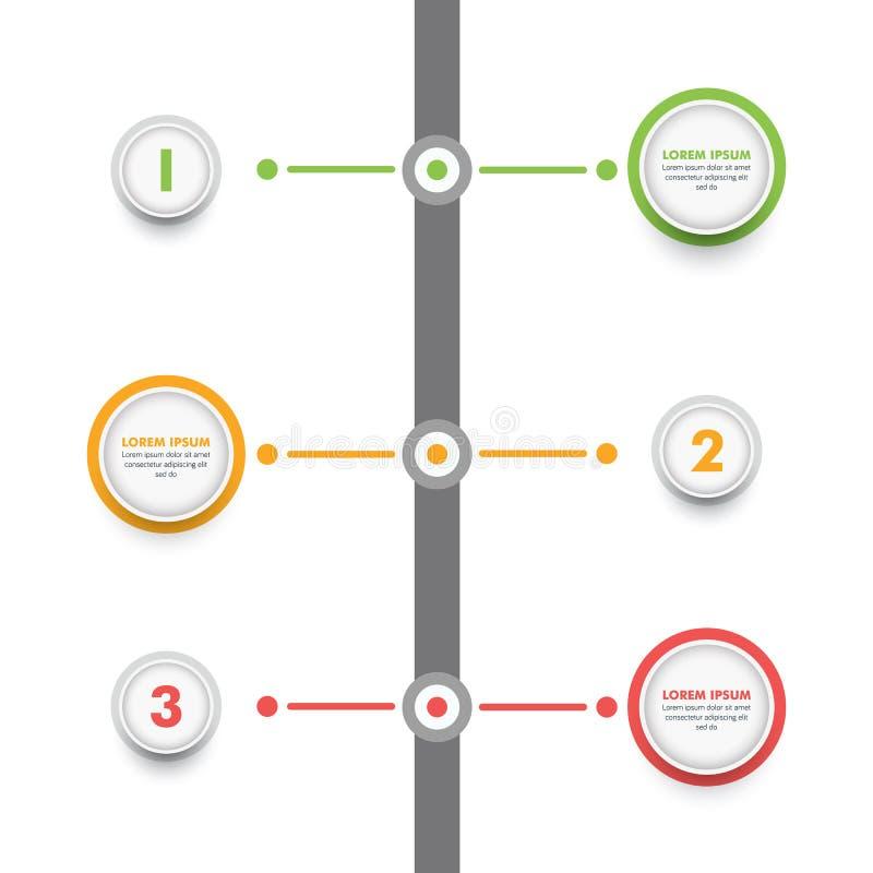 Modello infographic di affari Cronologia moderna Desig di Infographics illustrazione di stock