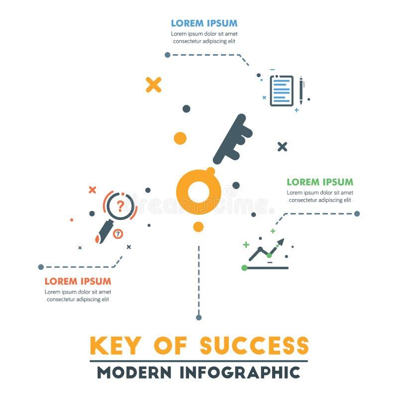 Modello infographic di affari Infographics astratto moderno Timel royalty illustrazione gratis