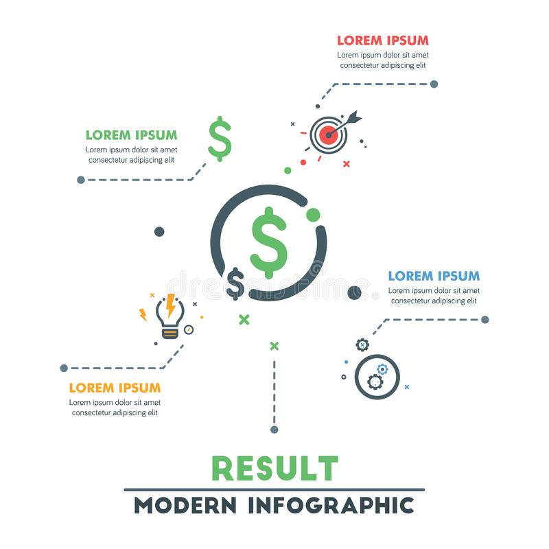 Modello infographic di affari Infographics astratto moderno Timel illustrazione vettoriale