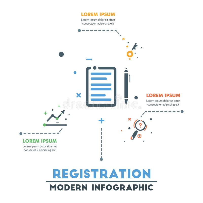 Modello infographic di affari Infographics astratto moderno Timel illustrazione di stock