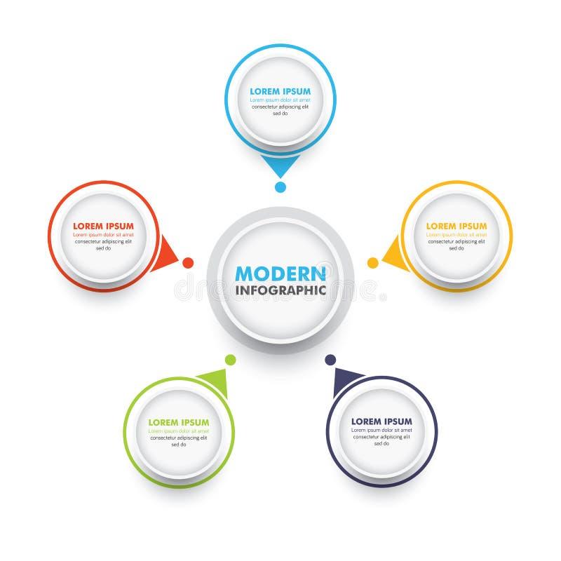 Modello infographic di affari Modello moderno di progettazione di cronologia di Infographics con il grafico di opzioni Illustrazi illustrazione di stock