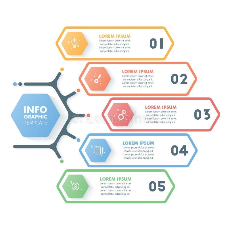 Modello infographic di affari Tempo esagonale moderno di Infographics royalty illustrazione gratis