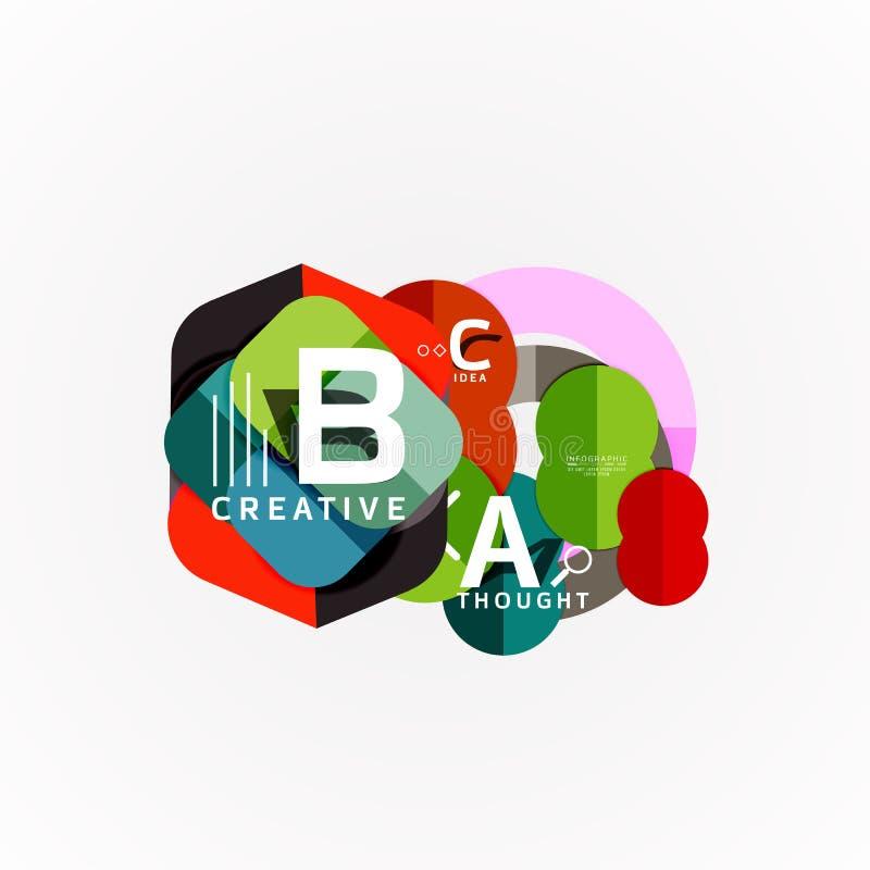 Modello infographic di carta dell'insegna con le opzioni di b una c, elementi di infographics illustrazione di stock