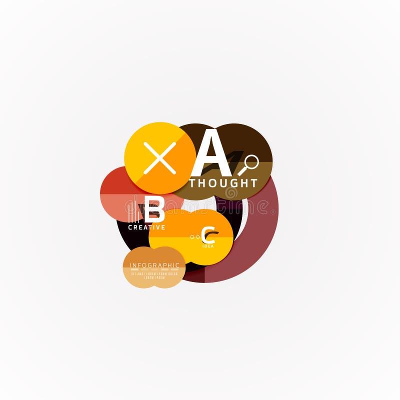 Modello infographic di carta dell'insegna con le opzioni di b una c, elementi di infographics royalty illustrazione gratis