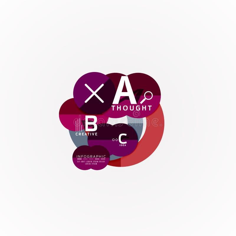 Modello infographic di carta dell'insegna con le opzioni di b una c, elementi di infographics illustrazione vettoriale