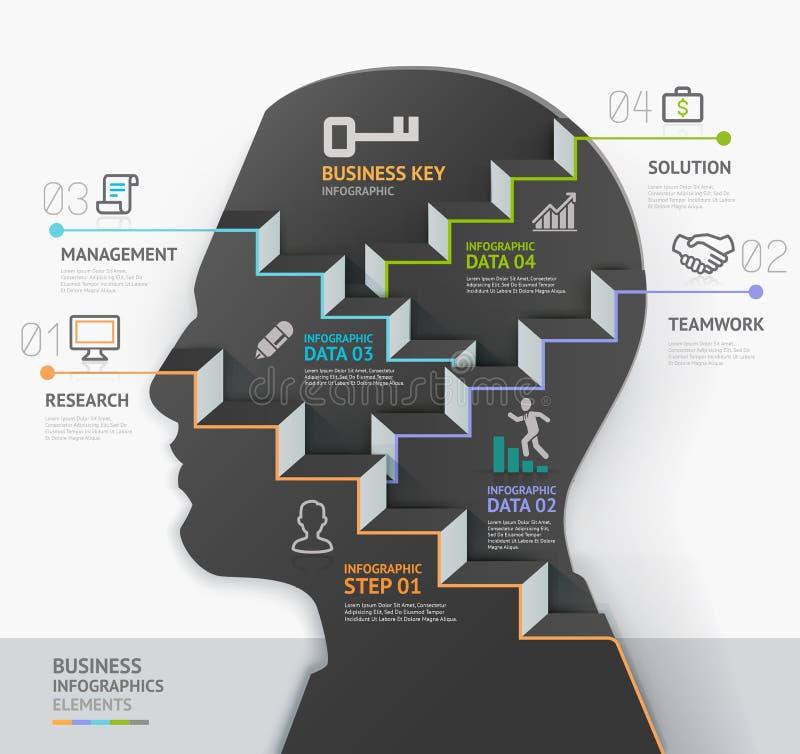 Modello infographic di concetto di affari Siluetta illustrazione di stock
