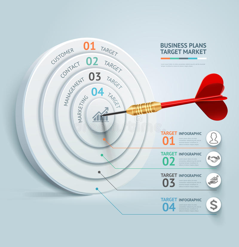 Modello infographic di concetto di affari Tum di affari illustrazione di stock