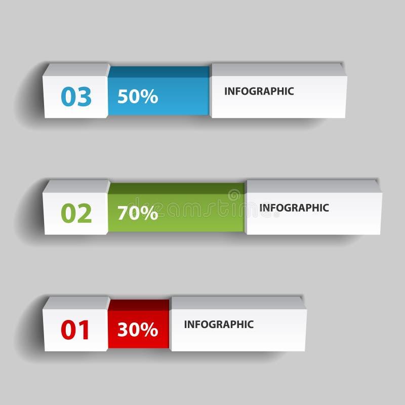 Modello infographic di progettazione del grafico delle percentuali illustrazione di stock