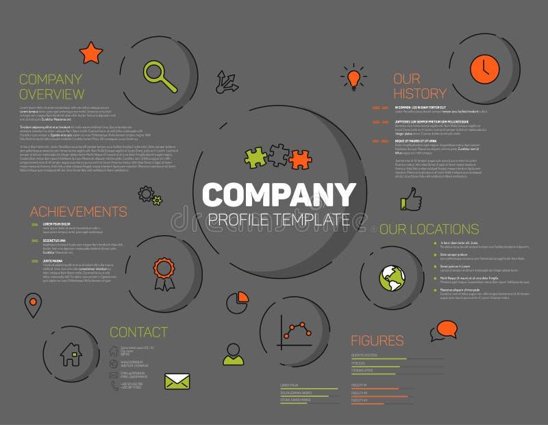 Modello infographic di progettazione di profilo di Vector Company illustrazione di stock