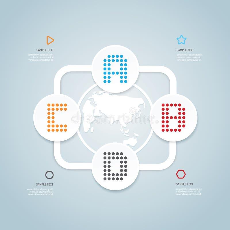 Modello infographic di stile minimo di progettazione moderna illustrazione di stock