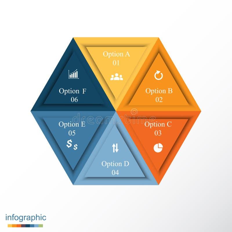 Modello infographic di vettore illustrazione di stock