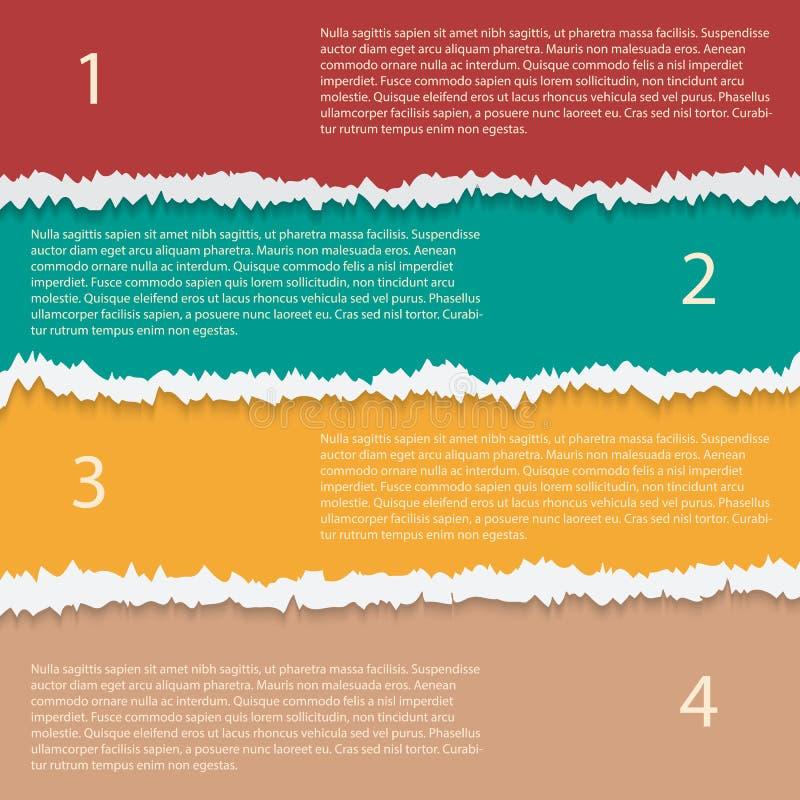 Modello infographic di vettore di carta lacerato di opzioni royalty illustrazione gratis