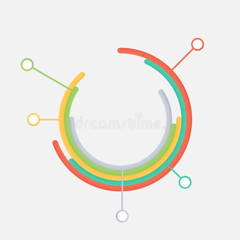 Modello infographic moderno immagine stock libera da diritti
