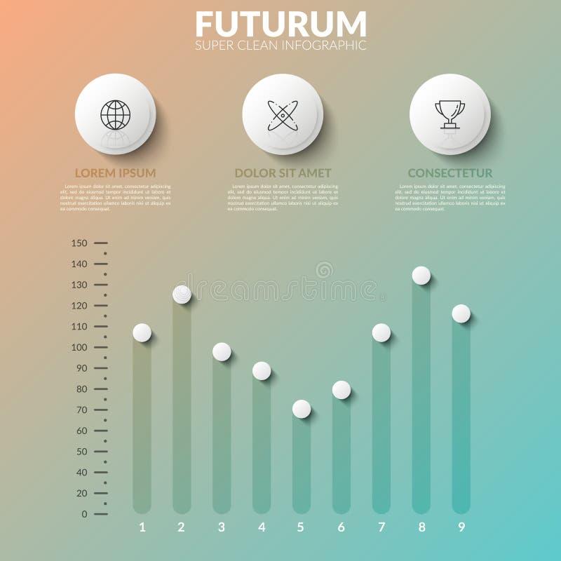 Modello infographic moderno di progettazione illustrazione vettoriale