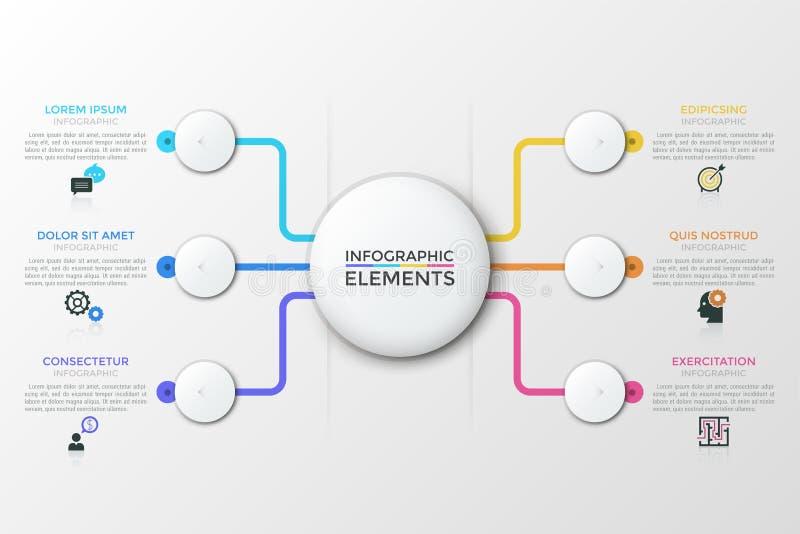 Modello infographic moderno di vettore illustrazione di stock