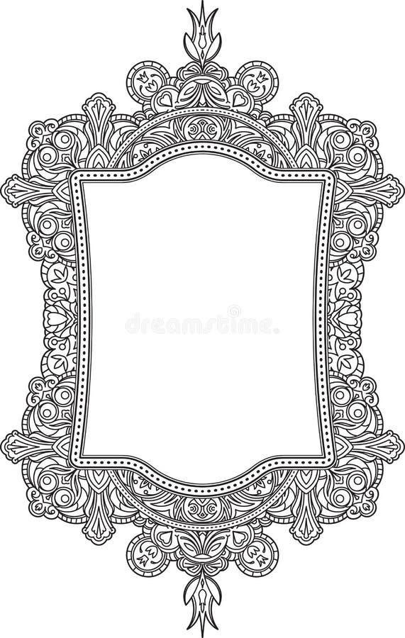Modello insolito decorato ricco della struttura Backgrou decorativo di vettore royalty illustrazione gratis