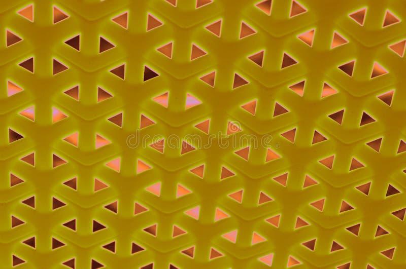 Modello intrecciato del fondo di progettazione in giallo ed in marrone immagine stock libera da diritti