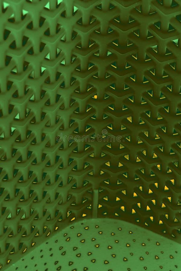 Modello intrecciato multidimensionale del fondo in verde ed in giallo fotografia stock