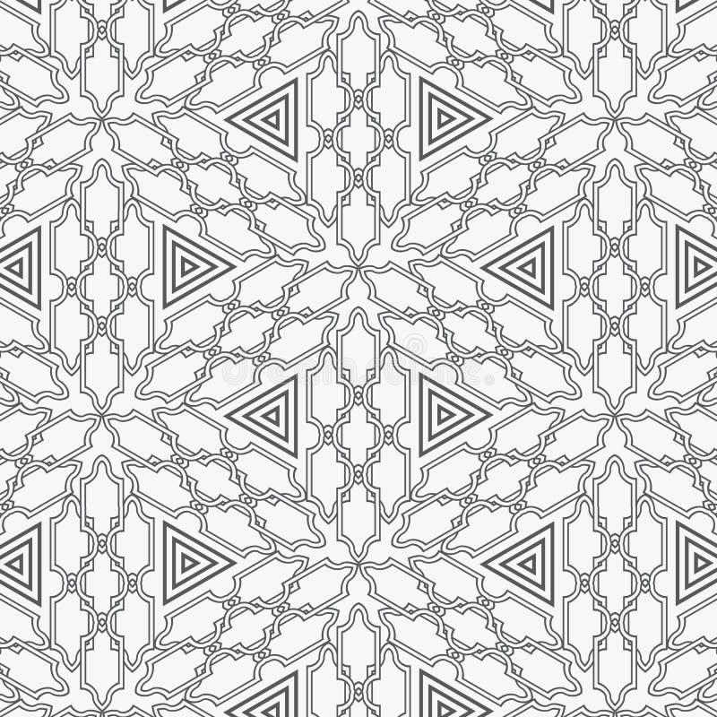 Modello islamico astratto nello stylebackground arabo modello geometrico arabo tradizionale, ornamento orientale illustrazione di stock