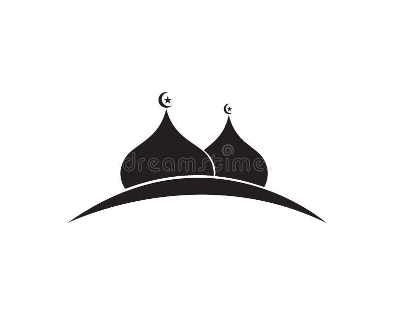 Modello islamico di logo della moschea illustrazione vettoriale