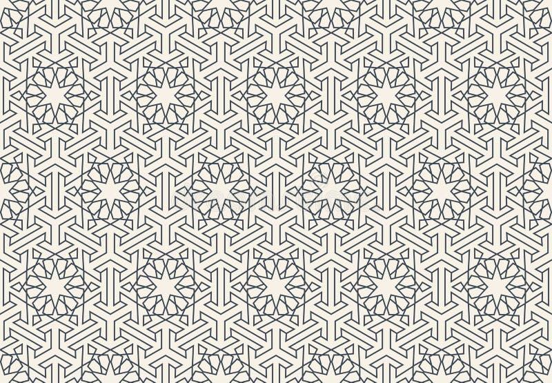 Modello islamico geometrico senza cuciture astratto della carta da parati illustrazione di stock