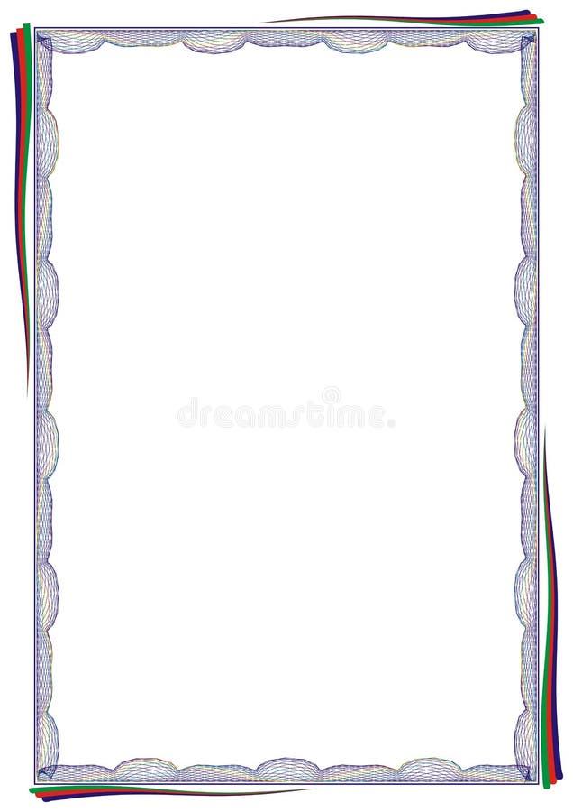 Modello isolato del fondo della struttura per il certificato o il diploma immagine stock
