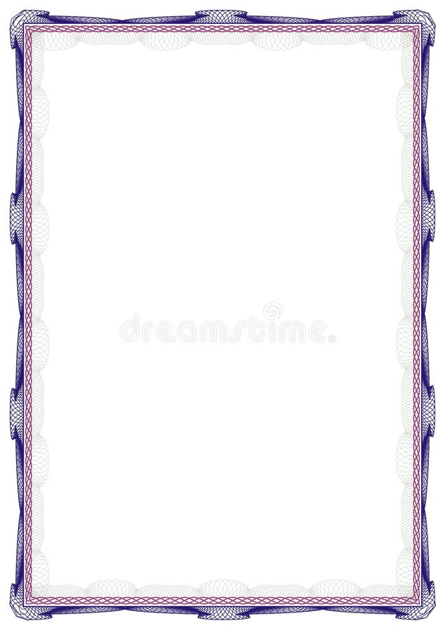 Modello isolato del fondo della struttura per il certificato o il diploma fotografia stock