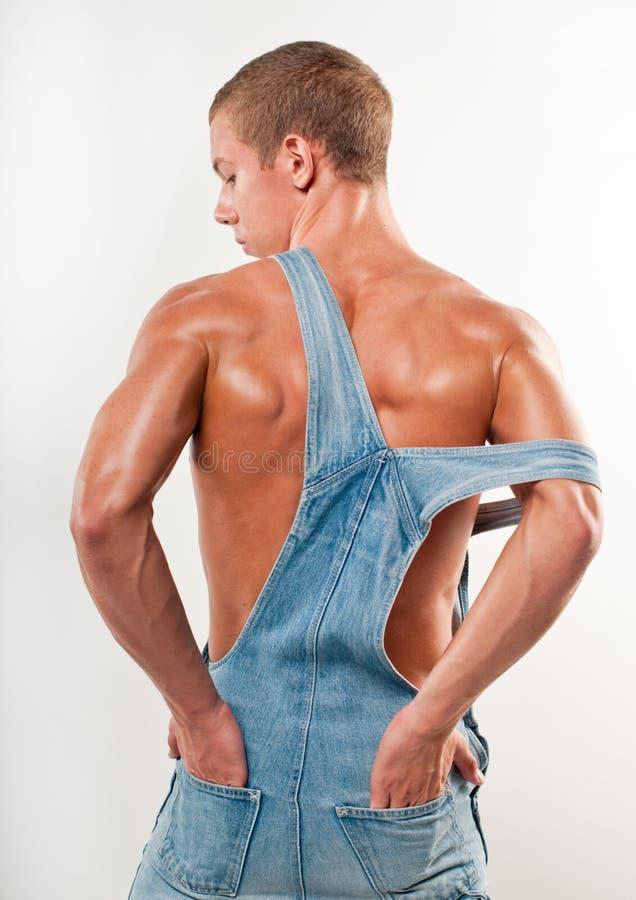 Modello in jeans immagini stock libere da diritti