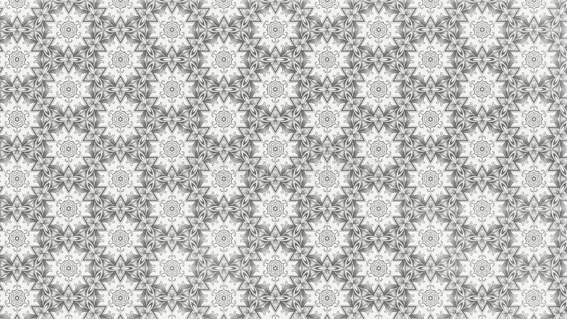 Modello leggero di Grey Floral Geometric Pattern Background illustrazione vettoriale