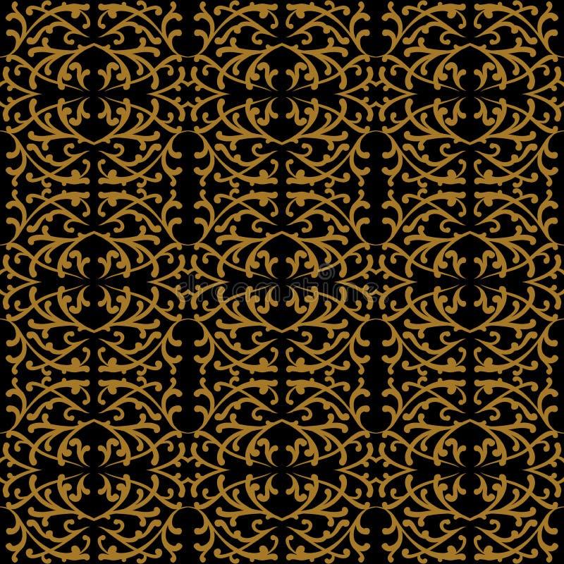 Modello lineare nello stile di rococò e di barocco illustrazione di stock