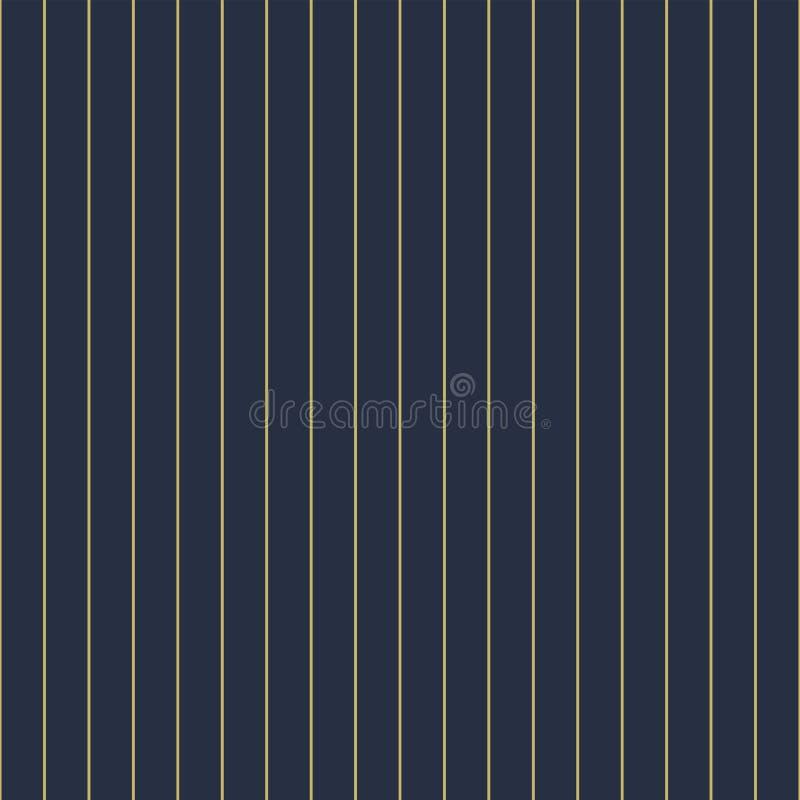 Modello lineare verticale senza cuciture geometrico di vettore - struttura ricca a strisce goldish Priorit? bassa blu alla moda royalty illustrazione gratis