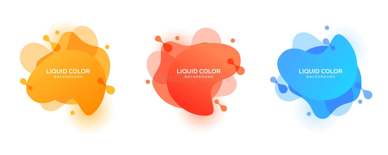 Modello liquido di progettazione di vettore del fondo di colore La pendenza fluida modella la composizione illustrazione vettoriale