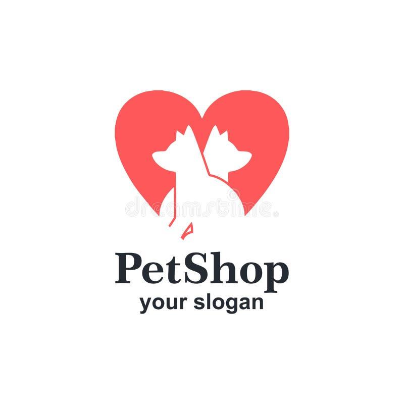 Modello logo negozio di PET illustrazione vettoriale