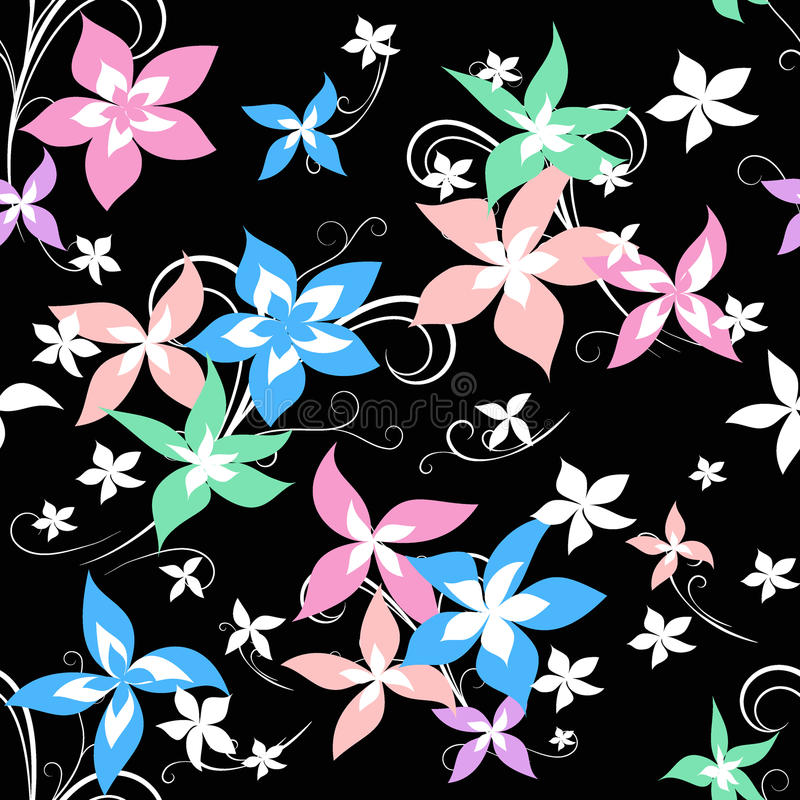 Modello luminoso del fiore illustrazione di stock