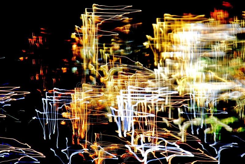 Modello luminoso nelle linee differenti, nelle bande e nei punti di un colore fotografia stock
