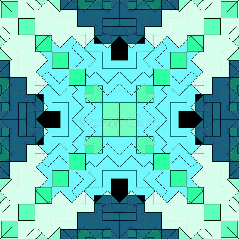 Modello macchiato, contemporaneo grafico del fondo dell'estratto del mosaico illustrazione vettoriale