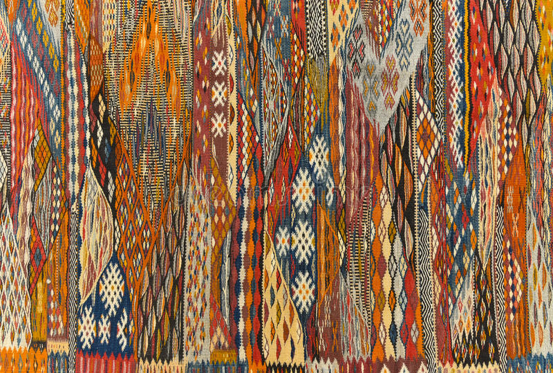 Modello marocchino del fondo del tappeto fotografia stock libera da diritti